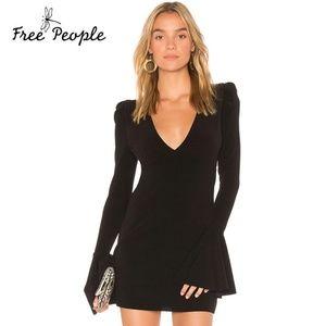 Free People Talk About It Deep V Mini Dress M